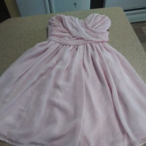 Tevolio strapless blush pink dress built in lined